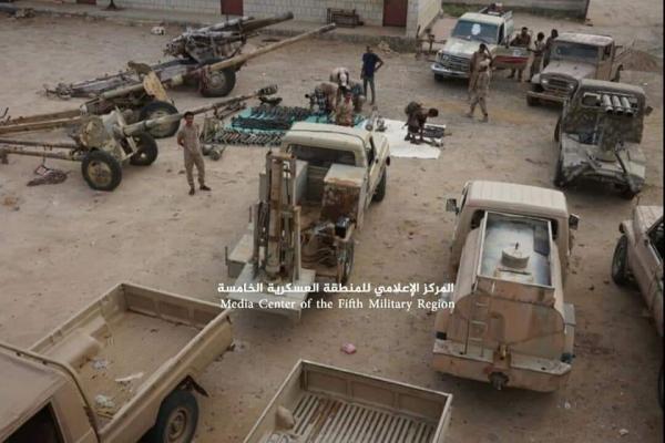 صور- القوات الحكومية بحجة تستعيد آليات على متنها صواريخ ومدافع وذخائر