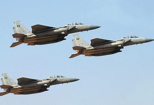 تدمير مخزن أسلحة وتعزيزات حوثية بقصف جوي بحجة