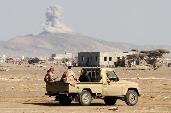 مقتل عناصر حوثية بغارة جوية دمرت عربة عسكرية بكتاف صعدة