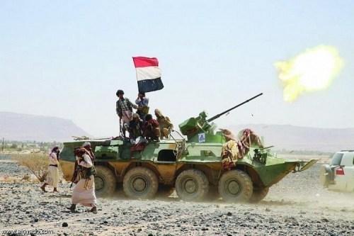 القوات الحكومية تستدرج مجاميع حوثية إلى مصيدة في جبهة قانية بالبيضاء