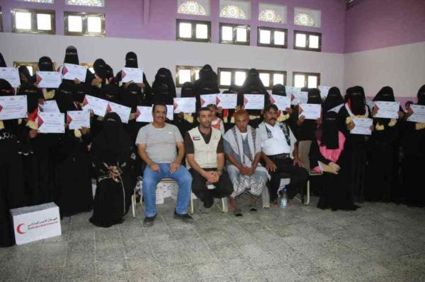 الهلال الإماراتي يكرم الدفعة الأولى من متدربات المشغل النسوي بالساحل الغربي