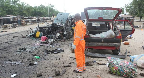 مقتل 30 شخصا على الأقل في هجوم انتحاري بشمال شرق نيجيريا