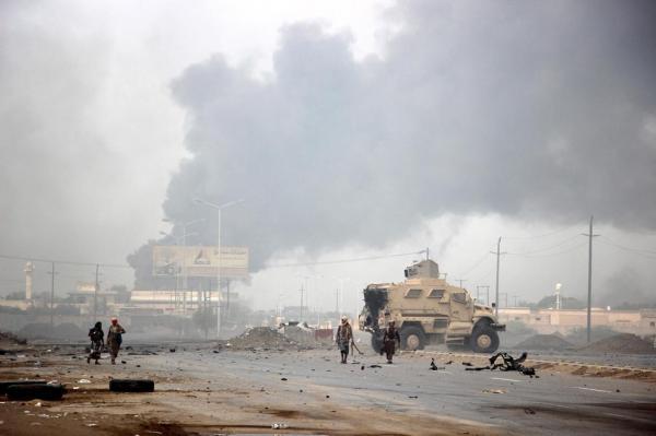 مواجهات هي الأعنف بخرق مليشيا الحوثي وقف إطلاق النار بمدينة الحديدة